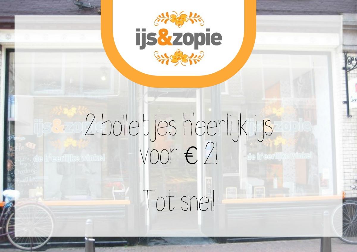 Twee bollen ijs voor €2!