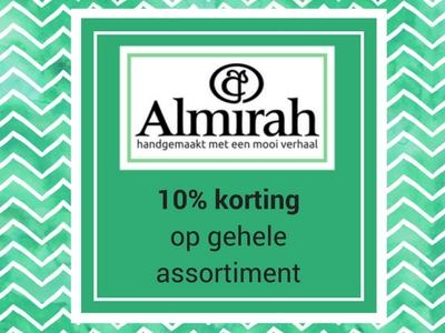 10% korting op het assortiment van Almirah